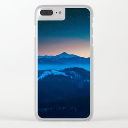 Among The Stars Clear iPhone Case