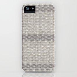 Vintage Grain sack Grey Linen  iPhone Case