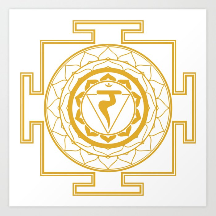 Sri Yantra Solar Chakra Art Print