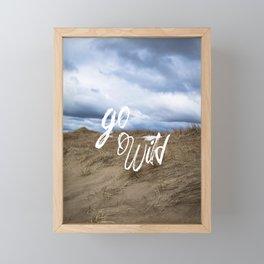 Go Wild Sand Dune Beach Print Framed Mini Art Print