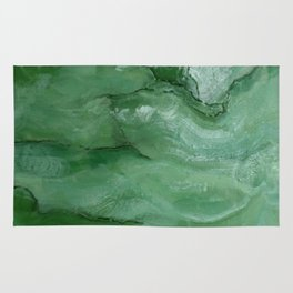 Jade - Original Art (encaustic painting) Rug
