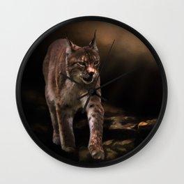 Into The Light - Lynx Art Wall Clock