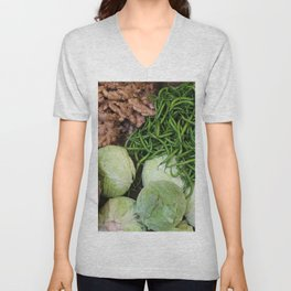 Food Market India with Chillies and cabbage Unisex V-Neck