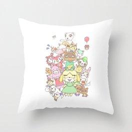 Animal Crossing (white) Throw Pillow