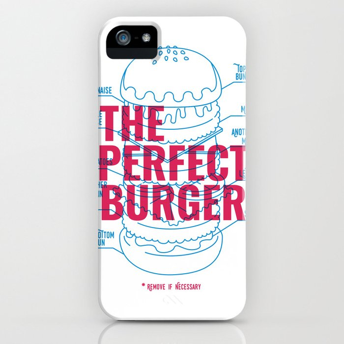 The Perfect Burger iPhone Case