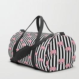 stripes and elephants Duffle Bag