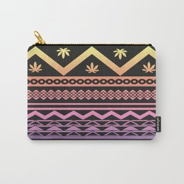 Cannabis Geometric Aztec Carry-All Pouch