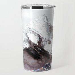 Panoramic View Of Everest Mountain Painting Travel Mug