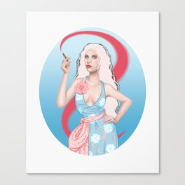 Lipstick Swirl Canvas Print