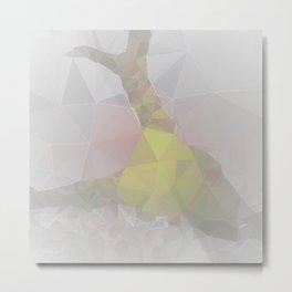 Geometric Animal Skull - Color Metal Print