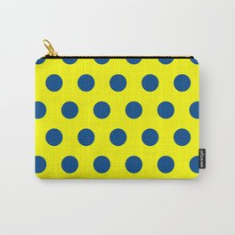 maize and blue polka dots Carry-All Pouch