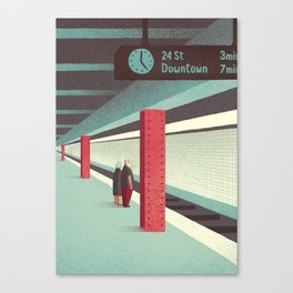 Day Trippers #3 - Waiting Canvas Print