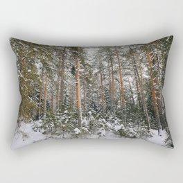 Winter in the wildwood. Rectangular Pillow