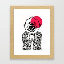 Yakuza Diver from Japan Framed Art Print