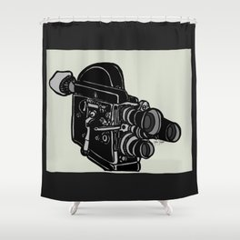 16mm Camera Shower Curtain