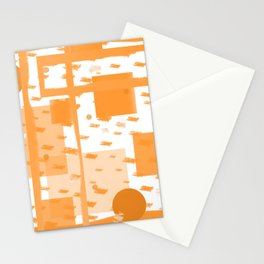 Orange Geometric Abstract Stationery Cards