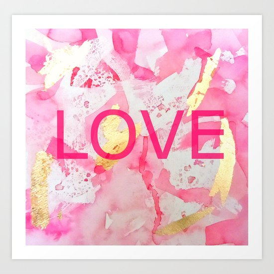 LOVE Abstract Art Print