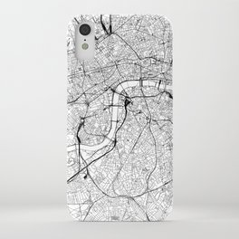 London White Map iPhone Case