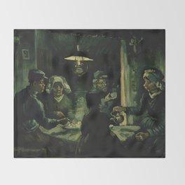 Vincent Van Gogh The Potato Eaters Throw Blanket