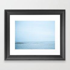 Blue Day Wave Framed Art Print