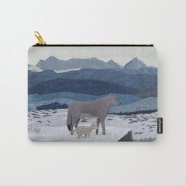 Wolfs Winter End Carry-All Pouch