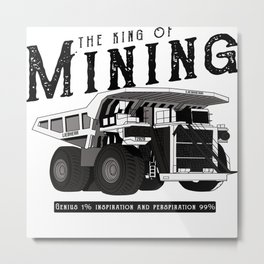 Liebherr the king of mining Metal Print
