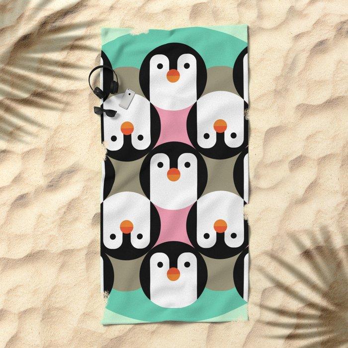 PenguinGame Beach Towel