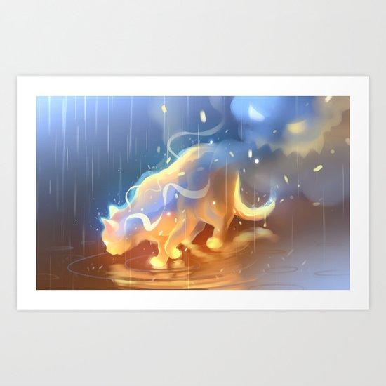 Flame Bound Art Print