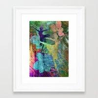 ballet Framed Art Prints featuring Ballet by Vitta