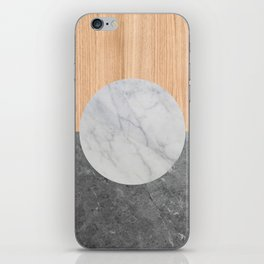 Abstract - Marble and Wood iPhone Skin