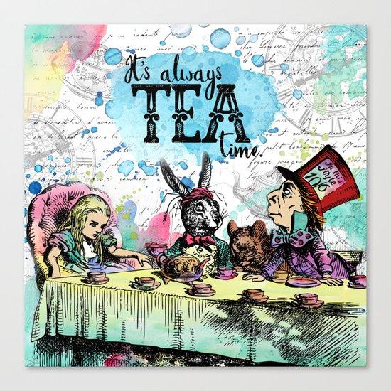 Alice in Wonderland - Tea Time Canvas Print