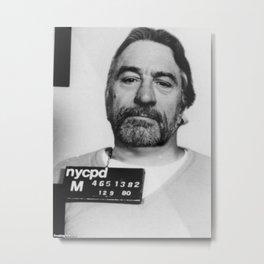 Robert De Niro Mugshot Metal Print
