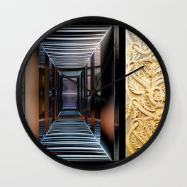 Architectural Hybrid Wall Clock
