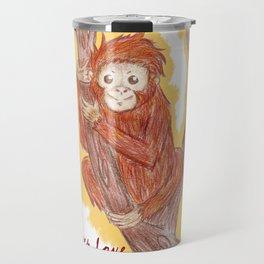 Orangutan In The Forest Travel Mug