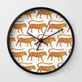 Jaguar Pattern Wall Clock