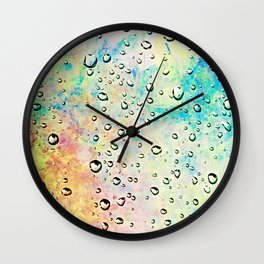 Rainbow Drops Wall Clock