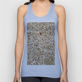 Berlin Germany Street Map Unisex Tank Top