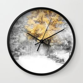 Wind Gust on a Fall Day after the Snow Wall Clock