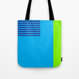 Neon Retro Colorblock Tote Bag