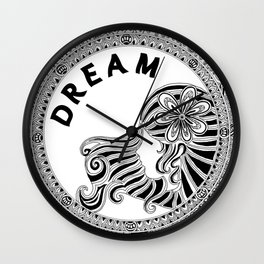 Dream (monochrome) Wall Clock