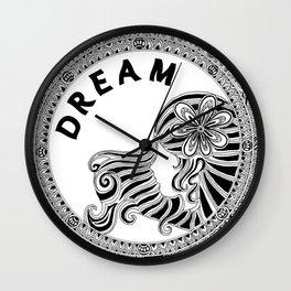 Dream (monochrome) Wall Clock