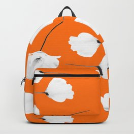 Poppies on orange peel Backpack