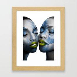 THE GIRL TWINS Framed Art Print