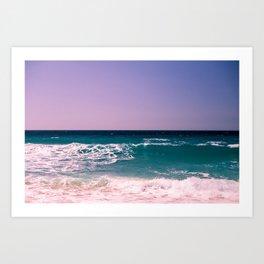 Azure Waves Art Print