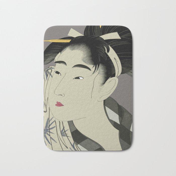 Utumaro #1 Gray Bath Mat