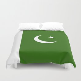 Pakistan flag emblem Duvet Cover