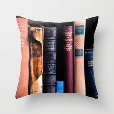 Vintage Books Throw Pillow