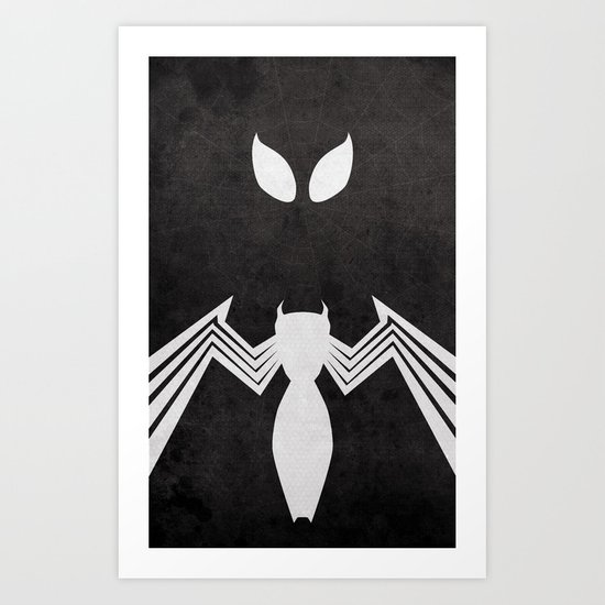 Spider-Man Black Costume Art Print