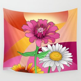 Garden Flowers Wall Tapestry