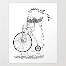 Portland Tee Design Art Print